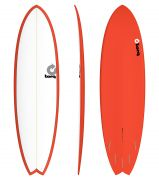 Surfboard TORQ Epoxy TET 6.10 Fish White Red