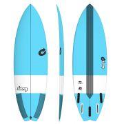 Surfboard TORQ Epoxy TEC Performance Fish 6.3 blue