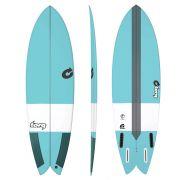 Surfboard TORQ Epoxy TEC Fish 5.10 blue